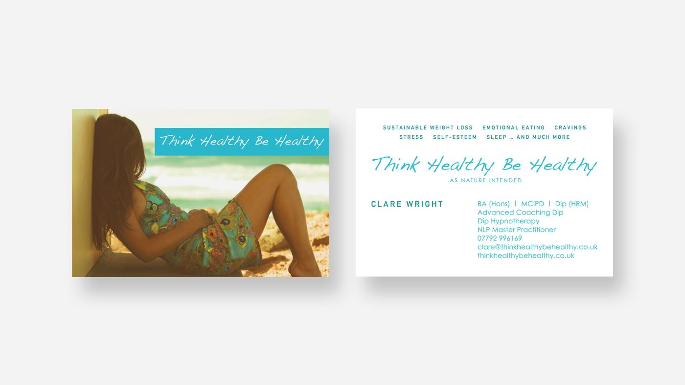 zinc designs - think healthy be healthy business cards