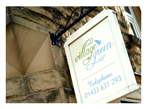 zinc designs - village green signage