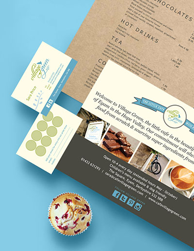 zinc designs - freelance graphic and web designer - village green