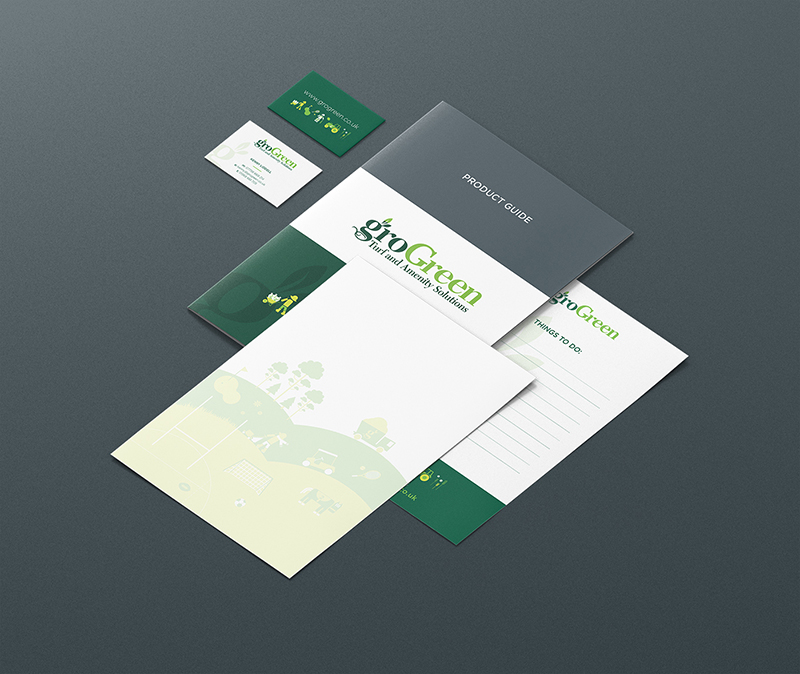 zinc designs - grogreen stationery