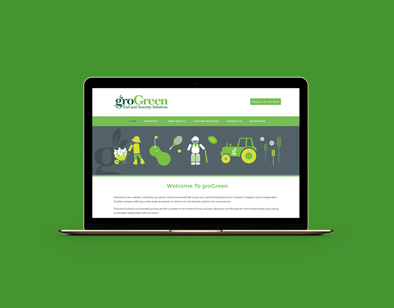 zinc designs - grogreen website